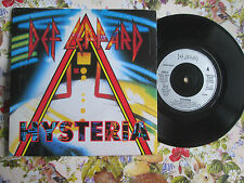 Def Leppard – Hysteria Label: Bludgeon Riffola – LEP 3 UK 7inch Vinyl Single