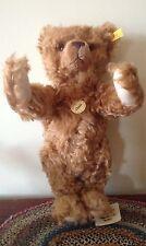 """STEIFF """"CLASSIC TEDDY BEAR"""" EAN 005121 CINNAMON CURLY MOHAIR BEAR, 35 CM/14"""""""