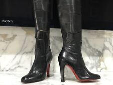 Christian Louboutin Black Vintage Boots Sz 37.5-Cut Out Boots- SEXY!