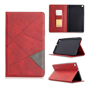 """Leather Wallet Stand Case Cover For Samsung Galaxy Tab A 8.0"""" 2019 SM-T290/T295"""