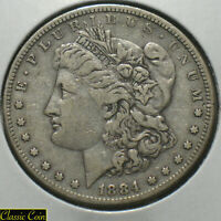 1884-S  Morgan Silver Dollar $1 VF+ Details 90% Silver Tougher Date