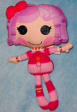 Lalaloopsy Plush Cloth Rag Doll Pillows Featherbed striped Pink fuzzy PJ's 10""