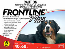 Frontline Plus For Extra Large Dogs 40-60kg 6 Pack