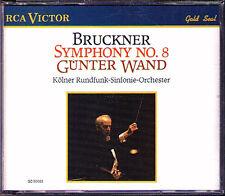 Günter WAND: BRUCKNER Symphony No.8 Köln 1979 RCA Gunter 2CD Sinfonie Original