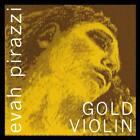 Pirastro Evah Pirazzi Gold Violin String Set GOLD Wound G  Ball  E  Medium
