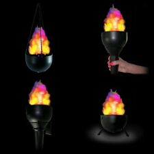 4-in-1 Fire Torch Light Cauldron Fake Silk Flame LED Battery Operated (SET OF 2)