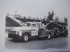 1962 STUDEBAKER TOW TRUCK  WITH INDY 500 TYPE CAR  11 X 17  PHOTO /  PICTURE