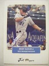 BRENT CLEVLEN signed RC BRAVES TIGERS 2004 Just card AUTO Autographed AUSTIN TX