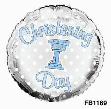 Christening Round Party Foil Balloons
