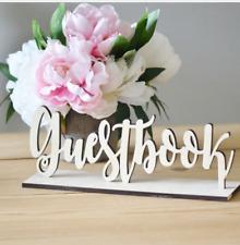 Wooden Guestbook Sign Wedding Decor Freestanding Sign Decoration DIY