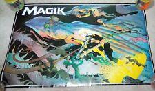 """Vintage 1987 Magik Poster 22"""" x 34"""" Marvel Comics MW Kaluta"""
