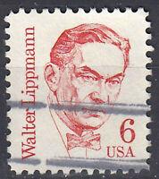 USA Briefmarke gestempelt 6c Walter Lippmann / 1699