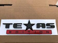 1 NEW TEXAS EDITION RED & BLACK EMBLEM FORD F-150 F-250 F-350 FENDER I TAILGATE