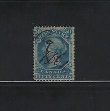 CANADA - #FB32 - 50c USED QUEEN VICTORIA BILL STAMP (1865)