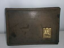 Vintage Old Leather Folder Album  Decorative art Retro Decor  Emblem with Horse