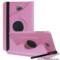 Housse Etui Rose pour Samsung Galaxy Tab A 10.1 SM T580 Support Rotatif 360°
