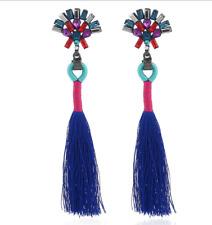 Fashion Chinese wind fan-shaped Crystal Tassel Drop Earrings For Gift