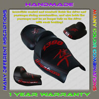 Unique Custom Seat COVER Suzuki Hayabusa 99-07 (1 Gen) Black+Red-gloss (3pillow)
