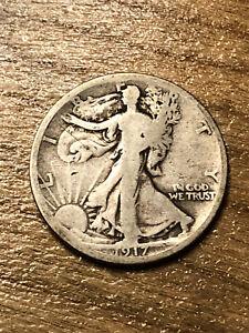 1917D(Rev) Walking Liberty Half Dollar VG