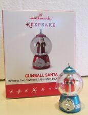 2016 Hallmark local club GUMBALL SANTA repainted miniature ornament