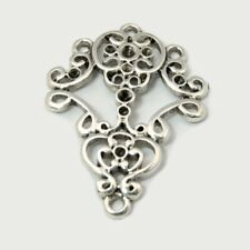 6 Tibetan Style Silver Chandelier Connectors (G4)