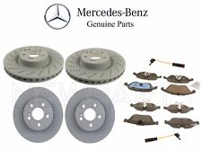 Mercedes W207 W212 E550 Front & Rear Brake Disc Rotors with Pads & Sensors OES