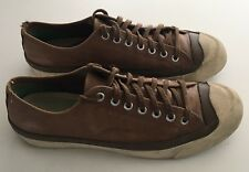 PF Flyers Medium Brown Leather Retro Throwback Sneakers Shoes Mens US 8