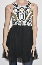 PURE HYPE Designer Black Net Lace Petticoat Dress Size S BNWT #sT67