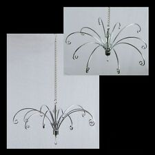 Display Hanger SILVER 27cm wide Mobile top 11 Hooks suncatcher hanging rack LGE