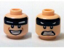 LEGO - Minifig Head Black Stripe on Forehead w/ White Eyes, Smile / Scared