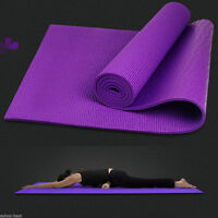 """Yoga Mat 6mm Thick 68""""x24"""" Durable NonSlip Pad Exercise Fitness Blanket TY"""