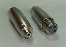 1x Audio Adapter Chinch female > XLR female