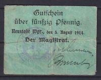 Neustadt en Wpr Wejherowo-Magistrado-50 Peniques-Dießner 260.1b