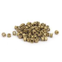 100tlg 4.2mm M3*3mm Gewinde Metall Knurl Gewindeeinsatz Muttern Messing Tone