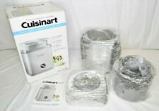 Cuisinart ICE-30BC 2Qt Automatic Ice Cream Frozen Yogurt Maker Brushed Metal NOB