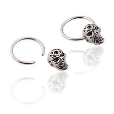 Fashion Hoop Earring Titanium steel Skull Heads Earrings Anti Allergy X131E