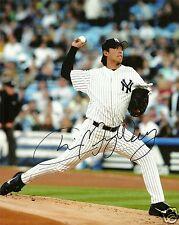 Chien Ming Wang Signed NY Yankees 8x10 Photo - COA - Nationals - Taiwan - MLB