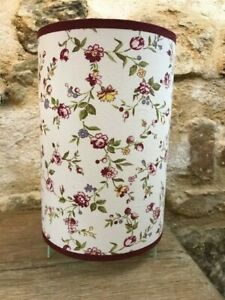 Pretty Lamp Cylinder To Small Flowers Pink, Yellow Handmade Decorative Lamp