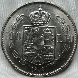 ROMANIA 100 lei 1938 XF/AU Carol II #C43