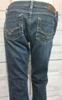 BKE Stretch Stella Boot Cut Jeans Size 31 x 31.5 Actual 31x29 Distressed Denim