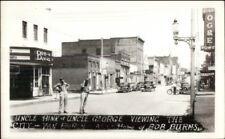 Van Buren AR Street Scene Uncle Hink & George Real Photo Postcard