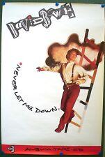 DAVID BOWIE – AFFICHE ORIGINALE PROMO - NEVER LET ME DOWN -  1987