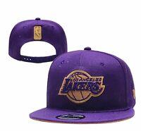 NEW ERA 9FIFTY LA Los Angeles Lakers  Finals , SnapBack Adult Hat/cap Purple