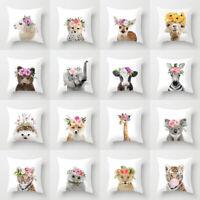 18'' Cartoon animal Throw Pillow case sofa soft cushion cover cojines Home Decor
