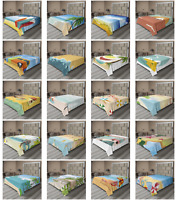 Ambesonne Beach Theme Flat Sheet Top Sheet Decorative Bedding 6 Sizes