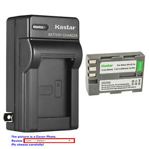 Kastar Battery Wall Charger for Nikon EN-EL3e MH-18a & Nikon D90 DSLR Camera