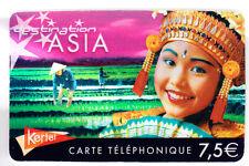 FRANCE  TELECARTE / PHONECARD  PREPAYEE .. 7€50 KERTEL SEXY ASIE ASIA CHINE +N°