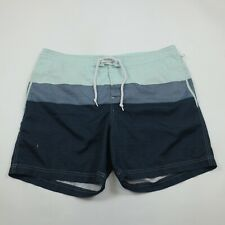"Penguin Board Shorts Size 36 (38) Men's Swim Suit Mesh Lining Blue 17"""
