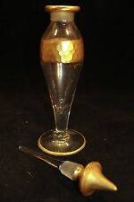 Heisey #485 ~ Vintage Gold Embellished Crystal Perfume/Cologne w/ #64 stopper