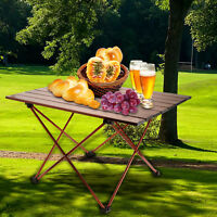Folding Portable Aluminum Roll Up Table for Camping Outdoor Picnic Garden Party